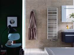 Zehnder Quaro Spa Electric Stainless Steel Designer Heated Towel Rail