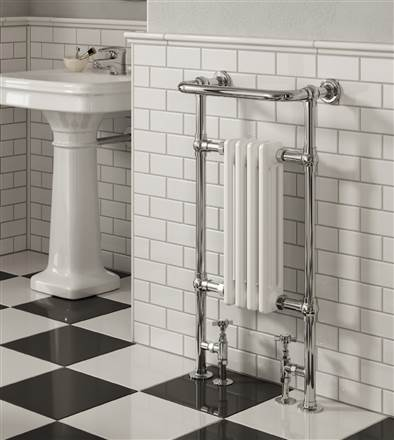Reina Alicia Traditional Floor Mounted Heated Towel Rail
