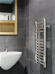 Abacus Linea Chrome Heated Towel Rail