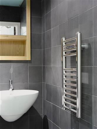 Abacus Linea White Heated Towel Rail