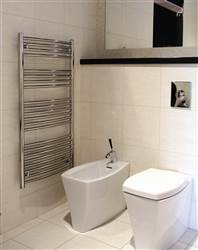 Abacus Radius White Heated Towel Rail