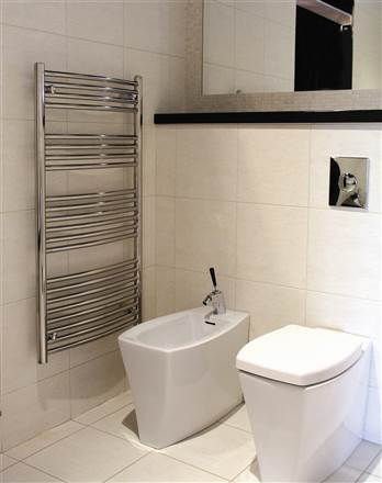Abacus Radius White Electric Heated Towel Rail