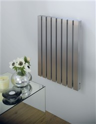 Aeon Arat E Horizontal Designer Radiators Brushed Stainless Steel