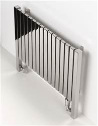 Aeon Arat L Horizontal Designer Radiators Polished Stainless Steel