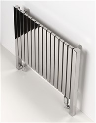 Aeon Arat L Horizontal Designer Radiators Brushed Stainless Steel