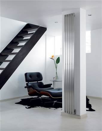 Aeon Lunar (formely the Zephyr) Designer Radiator Brushed Stainless Steel