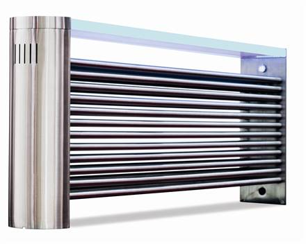Aeon Ottoman Bench Radiator (Previously called Millennium) Brushed Stainless Steel
