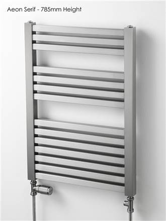 Aeon Serif Stainless Steel Towel Rail
