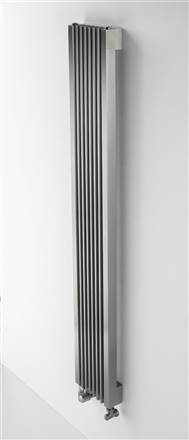 Aeon Stria Designer Radiator Brushed Stainless Steel