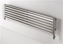 Aeon Supra Single Designer Radiator Polished Stainless Steel