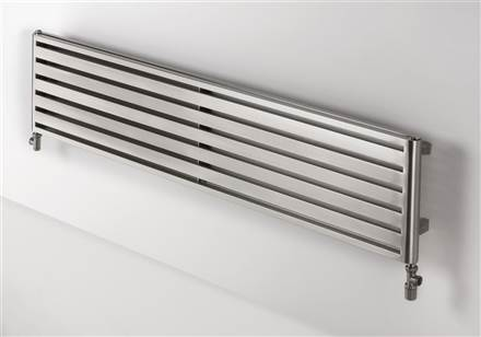 Aeon Supra Double Designer Radiator Brushed Stainless Steel