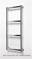 Aeon Tudor Stainless Steel Designer Heated Towel Rail