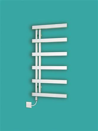Bisque Alban Electric Stainless Steel Heated Towel Rail