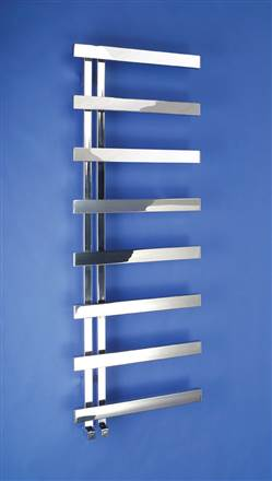 Bisque Alban Stainless Steel Heated Towel Rail