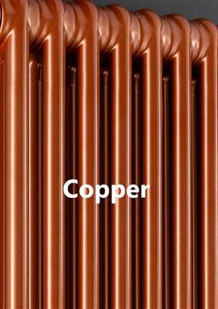 The Radiator Company Ancona 2 Column - 600mm Height – Copper-Graphex-Pearl Bronze Finishes