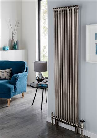 The Radiator Company Ancona Galvanised 3 Column Radiator