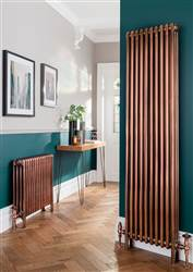 The Radiator Company Ancona Galvanised 4 Column Radiator