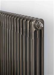 The Radiator Company Ancona 3 Column - 600mm Height - Bare Metal Lacquer Finish