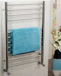 Apollo Garda Contemporary Polished Stainless Steel Heated Towel Rail