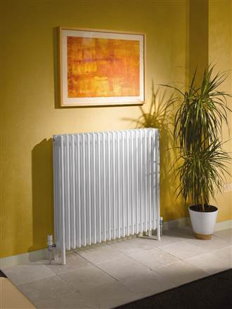 Apollo Roma Steel 4 Column radiators with welded feet - White (RAL9016)