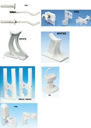 Apollo Roma Floor Bracket, Wall Bracket and Towel Hanging Accessories