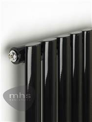 MHS Arc Black Horizontal Designer Radiator