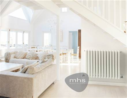 MHS Arc White Horizontal Designer Radiator
