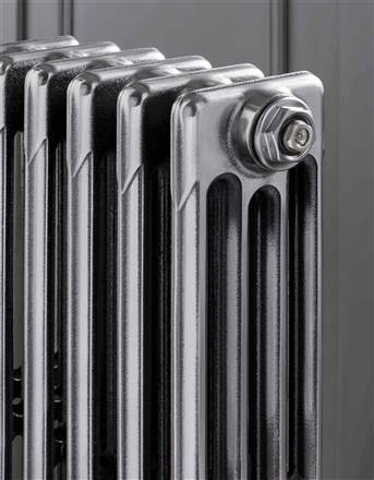 The Radiator Company Aston 4 Column Cast Iron Radiator - 860mm Height - Polished Finish