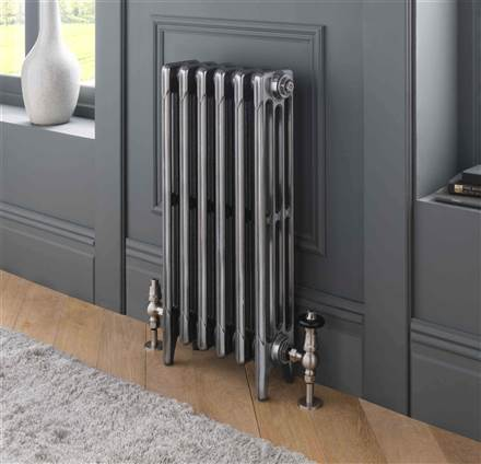 The Radiator Company Aston 6 Column Cast Iron Radiator - 360mm Height - Polished Finish