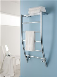 the radiator company aurelia chrome heated towel rail - Designer Heated Towel Rails For Bathrooms