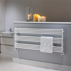 The Radiator Company BDO 25 White Heated Towel Rail