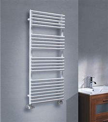 The Radiator Company Bath 25 White Heated Towel Rail