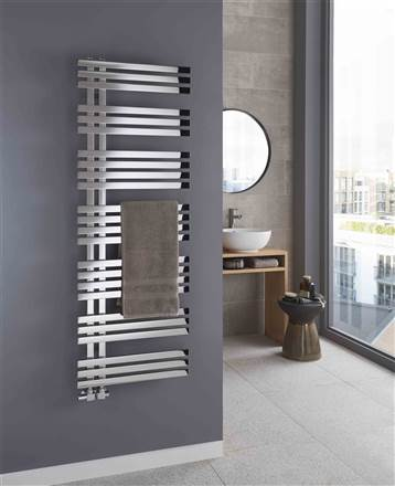 The Radiator Company Blues Stainless Steel Towel Rail