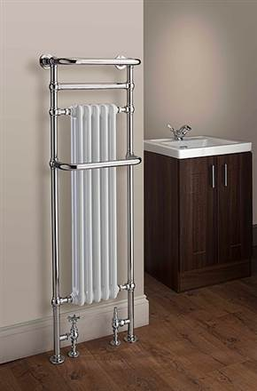 The Radiator Company Chalfont Floor Standing Traditional Heated Towel Rail