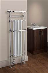 The Radiator Company Chalfont Floor Mounted Traditional Heated Towel Rail