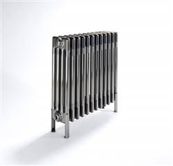Bisque Classic 4 Column Radiators with Welded Feet -  Lacquered Bare Metal
