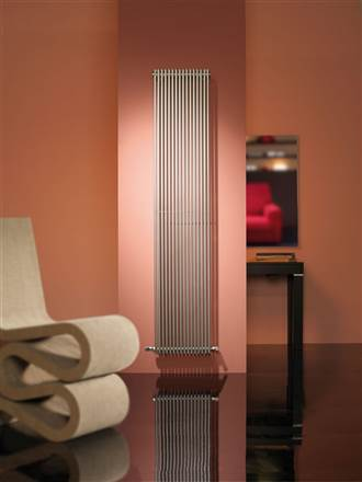 Cordivari Giada Vertical Brushed Stainless Designer Radiator