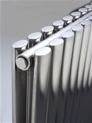 DQ Double Quick Cove Double Horizontal Stainless Steel Radiator