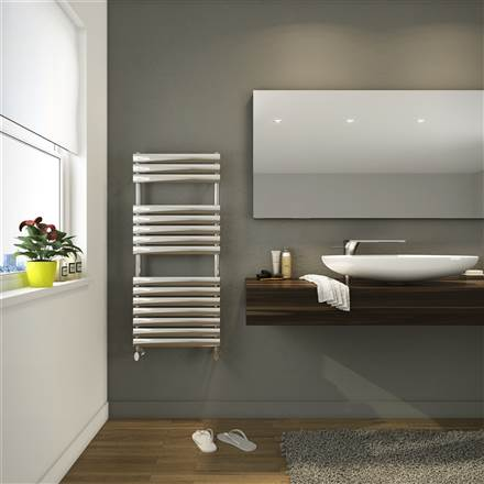 DQ Double Quick Cove Stainless Steel Electric Towel Rail