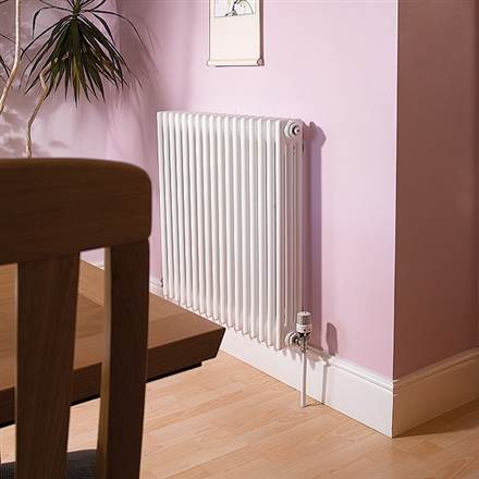 Apollo Roma 4 Column Horizontal Radiators - White (RAL9016)