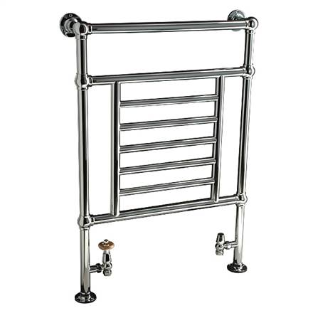 DQ Double Quick Cranwich Traditional Floor Mounted Towel Rail