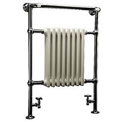 DQ Double Quick Croxton Traditional Floor Mounted Towel Rail