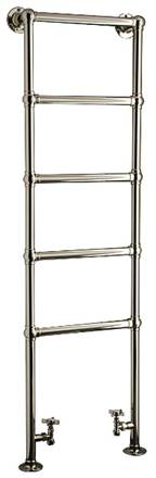 DQ Double Quick Elveden Traditional Floor Mounted Towel Rail