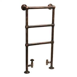 DQ Double Quick Ickburgh Traditional Floor Mounted Towel Rail