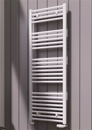 Reina Diva White Curved Heated Towel Rail