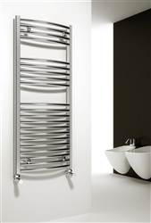 Reina Diva Chrome Curved Heated Towel Rail