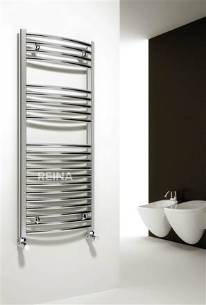 Reina Diva Chrome Straight Heated Towel Rail