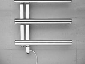 Bisque Chime Electric Stainless Steel Heated Towel Rail