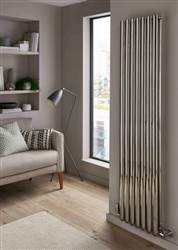 The Radiator Company Ellipsis Stainless Steel Double Vertical Radiator