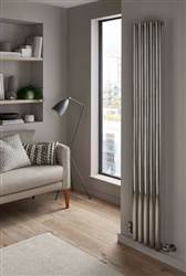 The Radiator Company Ellipsis Stainless Steel Single Vertical Radiator